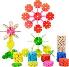 Small foot Small Foot Dřevěná spojovací hra květina sada 240 ks