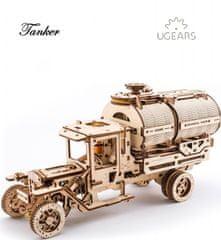 UGEARS  Dřevěná stavebnice 3D mechanické Puzzle Tanker