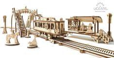 UGEARS  Dřevěná stavebnice 3D mechanické Puzzle Tramvajová linka