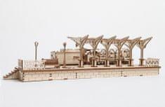 UGEARS  Dřevěná stavebnice 3D mechanické Puzzle Nástupiště