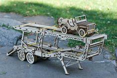 Wood Trick  3D mechanické puzzle - Přívěs ke kamiónu