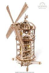UGEARS  3D dřevěné mechanické puzzle Větrný mlýn