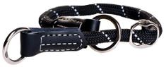 Rogz Obojek Rogz Rope černý 1,2x45-55cm