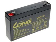 Long Long 6V 7Ah olovený akumulátor F1 (WP7-6)
