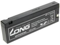 Long Long WP1223A 12V 2.1Ah 25.2Wh olověný akumulátor pro profesionální videokamery a defibrilátory