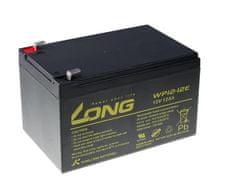 Long Long 12V 12Ah olověný akumulátor DeepCycle AGM F2 (WP12-12E)