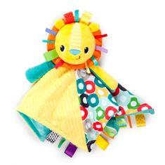 "Bright Starts Szundikendő Cuddle""n Tag oroszlánfejjel, 35x35cm, 0m+"