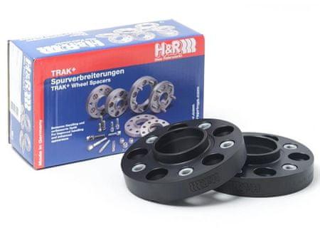 H&R Černé rozšiřovací podložky DRA60 pro Škoda Superb 3T (2015-)