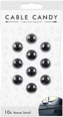 Cable Candy kábelový organizér Small Beans, 10 ks, čierna