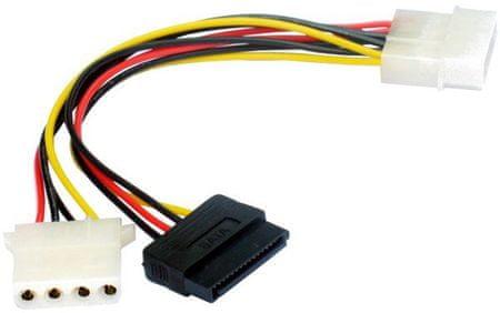 Gembird CABLEXPERT kábel SATA napájecí 15cm 1x 5,25 na 1x 5,25 a 1xSATA