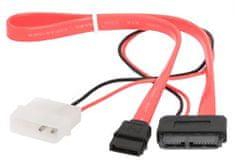Gembird CABLEXPERT kábel SATA napájecí + datový combo SLIMLINE