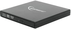 Gembird DVD-USB-02, externí, čierna