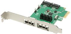 AXAGON PCIe radič 2x int./ext. SATA III 6G ASMedia