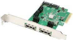 AXAGON PCES-SH4 radič radič 4x int./2x ext. SATA 6G
