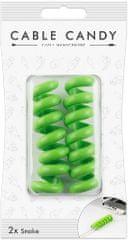 Cable Candy kábelový organizér Snake, 2 ks, zelená