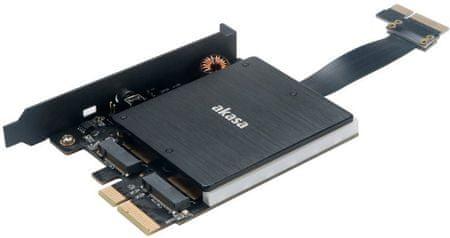 Akasa duální RGB adaptér M.2 SSD do PCIe x4 (AK-PCCM2P-04)