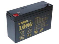Long Long 6V 12Ah olovený akumulátor F1 (WP12-6S)