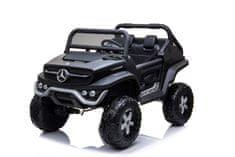 Beneo Elektrické autíčko Mercedes Unimog, Pohon 4x4, 12V / 14Ah, EVA kola, široké dvoumístné sedadlo