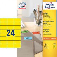 Avery Zweckform Etikety farebné 70x37mm Avery A4 100 hárkov žlté
