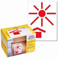 """Avery Zweckform Etikety Avery s varovným symbolom """" Chráňte pred teplom"""" 74x100mm na kotúči"""
