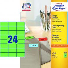 Avery Zweckform Etikety farebné 70x37mm Avery A4 100 hárkov zelené