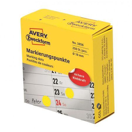 Avery Zweckform Etikety kruhové 19mm Avery žlté v dispenzore