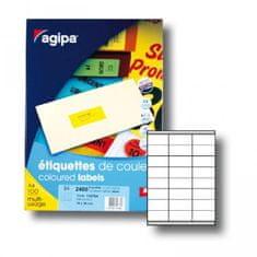Apli Etikety farebné 70x35mm APLI A4 100 hárkov fluo žlté