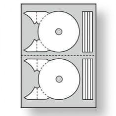 Apli Etikety univerzálne na CD/DVD priemer 117,5 -17mm 100 hárkov