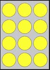 Apli Etikety farebné priemer 60mm A4 20 hárkov fluo žlté