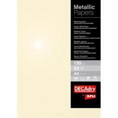 Apli Metalický papier A4 šampanské 130g 50 hárkov