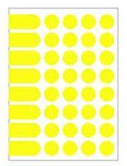Apli Etikety kruhové 24mm A5 žlté