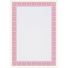 Apli Certifikačný papier A4 ružový 115g 25 hárkov