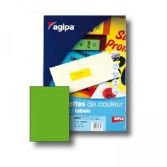Apli Etikety farebné 210x297mm APLI A4 100 hárkov fluo zelené