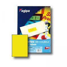 Apli Etikety farebné 210x297mm APLI A4 100 hárkov fluo žlté