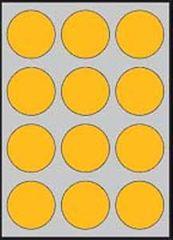 Apli Etikety farebné priemer 60mm A4 20 hárkov fluo oranžové
