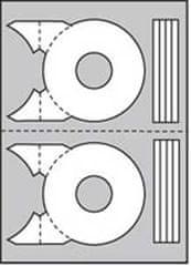 Apli Etikety univerzálne na CD/DVD priemer 114mm 20 hárkov