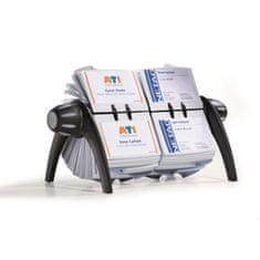 Durable Rotačný stolový vizitkár na 600 vizitiek VISIFIX duo VEGAS čierny/sivý