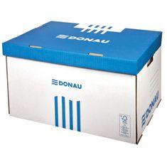 Donau Archívna škatuľa so sklápacím vekom modrá