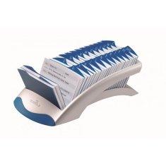Durable Stolový záznamník TELINDEX Desk VEGAS strieborný/modrý