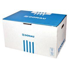 Donau Archívna škatuľa s predným otváraním modrá