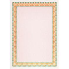Apli Certifikačný papier A4 oranžovo-zelený 115g 25 hárkov
