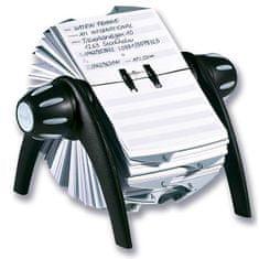 Durable Rotačný stolový záznamník TELINDEX Flip VEGAS čierny/sivý