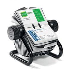 Durable Rotačný stolový vizitkár na 400 vizitiek VISIFIX ROTARY FILE čierny