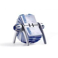 Durable Rotačný stolový vizitkár na 400 vizitiek VISIFIX Flip VEGAS strieborný/modrý