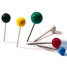 Durable Napichovacie špendlíky guľaté 6mm mix farieb 50ks