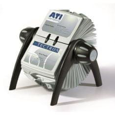 Durable Rotačný stolový vizitkár na 400 vizitiek VISIFIX Flip VEGAS čierny/sivý