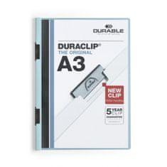 Durable Obal s klipom A3 DURACLIP Original modrý