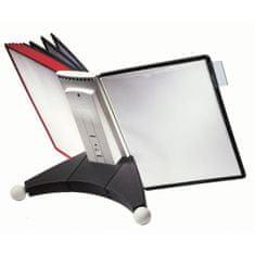 Durable Stojan na stôl SHERPA s 10 panelmi čierno/červené