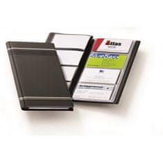 Durable Vizitkár prenosný na 96 vizitiek VISIFIX s prúžkami čierny