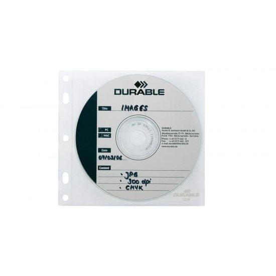 Durable Vrecká na CD/DVD COVER FILE do zakladačov á10ks